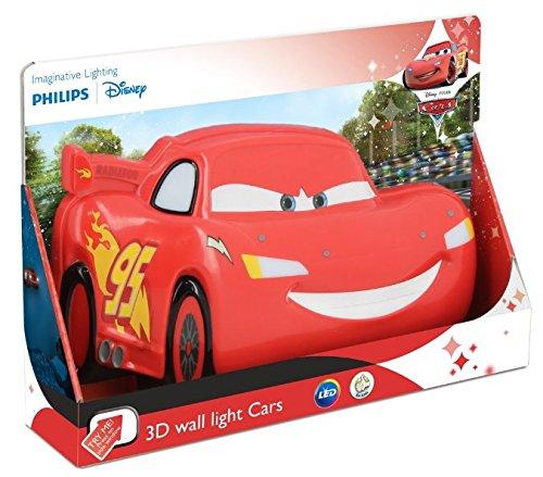 Philips Cars Iluminación infantil LED integrado, con sensor de movimiento, Rojo,