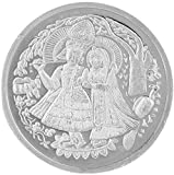 Ridhi Home & Decor Metal 10 g Coin Radha Krishan Silver Plated with Box