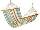 #6: Hangit 4feet Wide XL Canvas Multi colored Hammock Swing