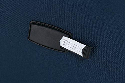 BEIBYE 4 Rollen Reisekoffer 8005 Stoffkoffer Gepäck Koffer Trolley SET-XL-L-M in 5 Farben (Blau, Set) -