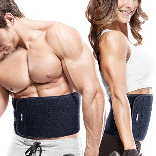 #[Fitnessgürtel] FREETOO Bauchweggürtel Schwitzgürtel für Einfaches und effektives Abnehmen hochwertige Rückenbandage Waist Trimmer für Damen und Herren auf Sport Training Fitness Büro und Alltag anwenden#