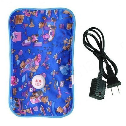 Generic Electric Heat Bag Hot Gel Bottle Pouch Massager Rectangle Shaped (Assorted Design & Color)