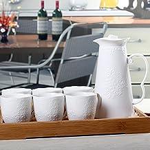 XY&GKVasija de cerámica de agua fría y gran capacidad de jarra jugo Pot juego de té de agua de alta temperatura,B