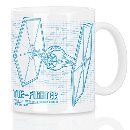 A.N.T. TIE-Fighter Motivtasse blaupause fighter