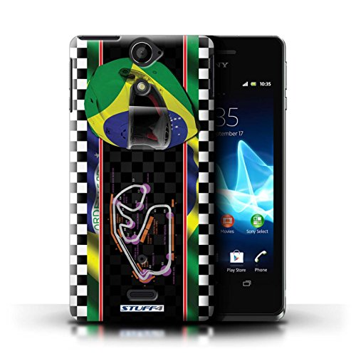 Kobalt® Imprimé Etui / Coque pour Sony Xperia V/LT25i / USA/Austin conception / Série F1 Piste Drapeau Brésil/SãoPaulo