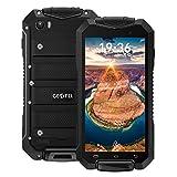 """Geotel A1 3G Smartphone Débloqué(IP67 Étanche Anti-Poussière Anti-Choc - Android 7.0 MTK6580M Quad Core - 4.5"""" -3400mAh Batterie - Deux Caméras 2MP 8 MP - 1Go RAM 8Go ROM - Dual SIM -GPS WiFi FM Bluetooth) - Noir"""