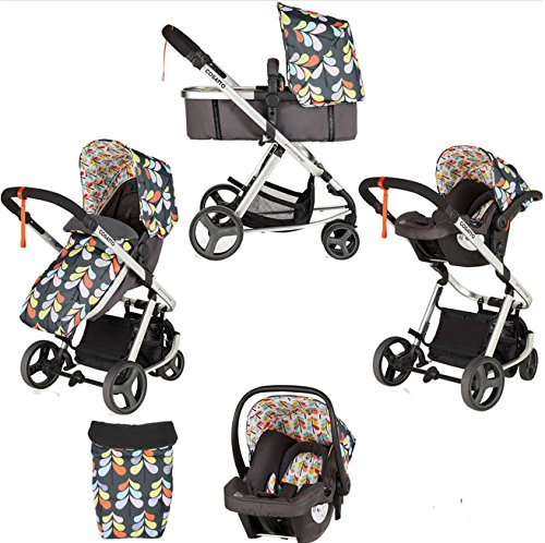 Cosatto Giggle Mix pram and Pushchair Nordik with car seat Base & raincover Cosatto Includes: Chassis,Seat unit, Hold Car seat,Isofix base,Car seat adaptors,Raincover, Apron and 4 Year guarantee(UK and Ireland only) Suitable from birth up to 15kg. One unit transforms from newborn pram mode into pushchair mode. Space saving. No need to buy separate carrycot.. Colour packs available so you can change the look to suit your mood, family and adventures. Includes hood, pram apron and padded pushchair apron. 2