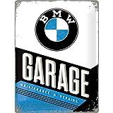 Nostalgic-Art 23211 Plaque en métal avec Inscription BMW Garage 30x40cm