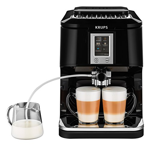 Krups EA8808 Kaffeevollautomat (Two-in-One-Touch Funktion, 15 bar, Touchscreen-Farbdisplay)...