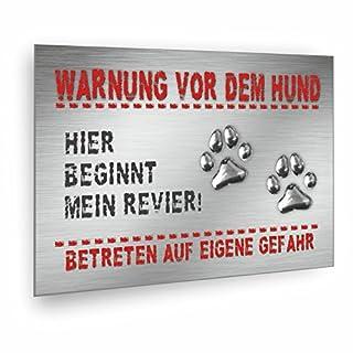 Warnung vor dem Hund Schild - incl. Schaumstoffklebepunkten zur Befestigung geliefert! (DIN A4 21 x 29,7 cm)