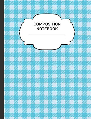 Composition Notebook: College Ruled Narrow Line Comp Books for School - Buffalo Plaid Teal (Trendy Cute Journals for Students, Band 14) Teal Buffalo