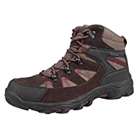 Mountain Warehouse Rapid Mens Boots - Waterproof Rain Shoes, Leather Suede Walking Shoes, Good Grip Hiking Boots, Mesh Lining, Heel & Toe Bumpers - for Travelling