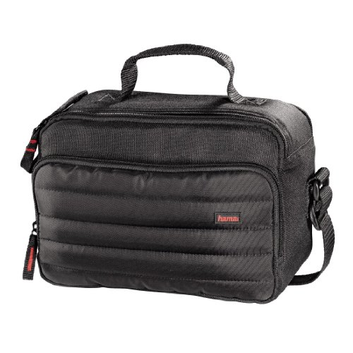 Hama Kamera- und Videotasche gepolstert für eine Spiegelreflexkamera und Camcorder, Syscase 140, Schwarz