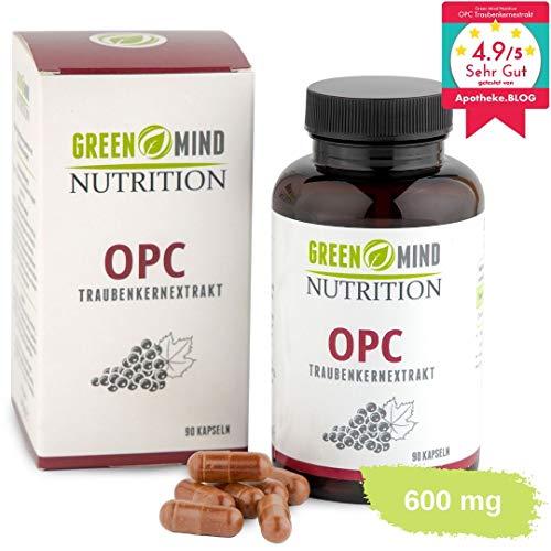 OPC Traubenkernextrakt ● 600 mg pro Kapsel ● zertifiziert ● hochdosiert ● premium Qualität ● vegan ● 3 Monate Vorrat ● Made in Germany