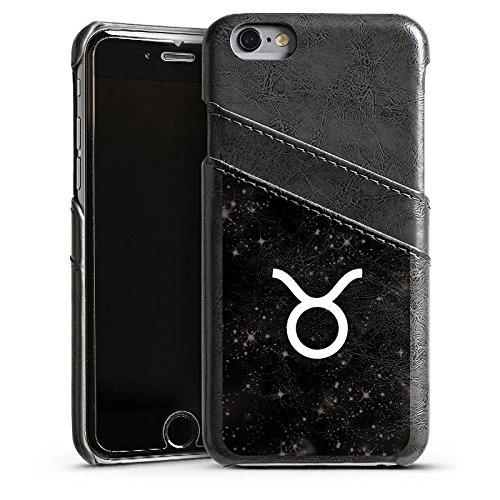 Apple iPhone 5s Housse Étui Protection Coque Taureau Signes du zodiaque Astrologie Étui en cuir gris