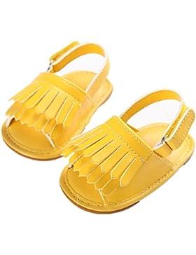 L-Peach Sandalias de Borla Zapatos de Verano para Recién Nacido Bebé Primeros Pasos 0 a 18 Meses