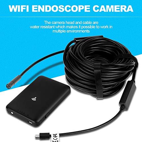 15M HD USB WiFi Endoskop mit wasserdichter Schlangenkamera für Android und IOS Smartphone
