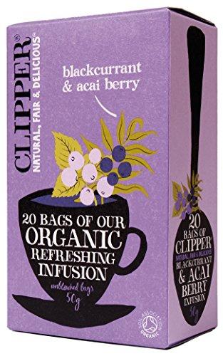 Clipper Fairtrade Organic Black Currant and Acai Berry 20 Tea Bags, 50g