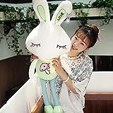 BAONZEN Bambola coniglietta con Coniglietto in Peluche con Bambola dormiente, Fungo Verde Chiaro, 1M