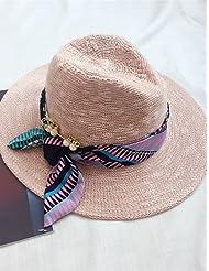 Sucastle Mujer Sombrero Floppy Casual-Verano-Lino / Malla / Paja , beige-one-size , beige-one-size