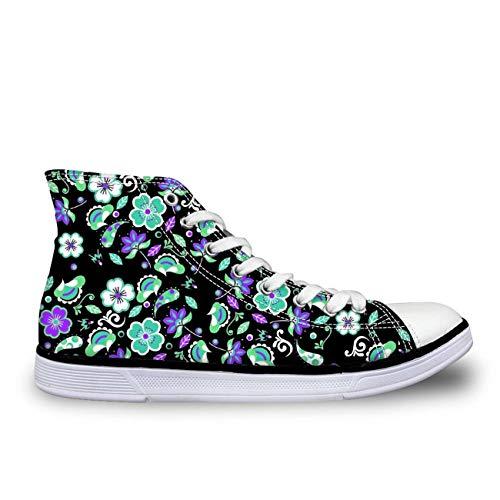 Cute Butterfly Women Hi Tops Canvas Shoes Lace Up Designer Pumps Comfy Sneakers Cartoon CC3026AK UK 3 -