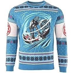 Star Wars Jersey De Navidad AT-AT Battle of Hoth Unisexo - L