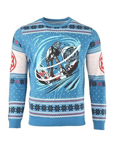 Price comparison product image Star Wars Christmas Jumper Ugly Sweater at-at Battle of Hoth for Men Women Boys and Girls - L