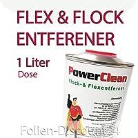 39,90 € / 1 L) FLOCKENTFERNER BÜGELFOLIE Flexfolien - 1 Liter Dose Silikonreiniger Kunstoffreiniger TOP ! Preistip Flex Flock ADHESIVE REMOVER