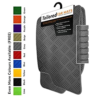 To fit Atego/Axor MK2 (2007+) Tailored Black Rubber Car Mats + Grey Trim (1220)