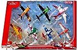 Disney PLANES Wings Around The Globe Racing 7-Pack Set 2 : Sun Wing, Jan Kowalski, LJH 86 Special, Racing Dusty Crophoppper, Joey Dundee, Ripslinger, Rochelle