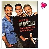 Best of KLUBBB3 - Songbook für Akkordeon mit bunter herzförmiger Notenklammer