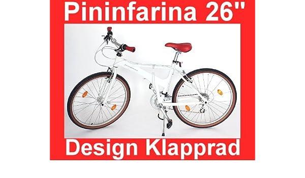 Bicicletta Pieghevole Pininfarina 26.Pininfarina Bici Pieghevole Design 26 Amazon It Sport E Tempo