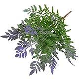 Kunstrasen Farn Garten Fake Pflanze Nachahmung Home Raum Hochzeit Party Decor–Grün Lila, Plastik, Green Purple, Einheitsgröße