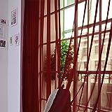 Coconano 1er-Pack Farbverlauf Gardinen Transparenter Voile Vorhänge Schals mit Kräuselband H x B 200x100 cm