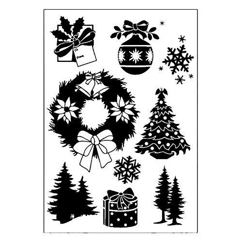 Fansi 1 Set Metall Stanzschablone Prägeschablone Schablone Scrapbook DIY Album Grußkarte Weihnachten Siegelbasteln Dekoration - Scrapbook-papier Weihnachten