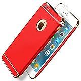 JEPER Kompatibel für iPhone 7 Hüllen, 3 in 1 Handyhülle Ultra Dünn Hartschale 360 Grad Full Body Hart PC Hülle Hardcase Backcover Schutzhülle Schutz Schale für Apple iPhone 7/8 (iPhone 7 4.7', rot)