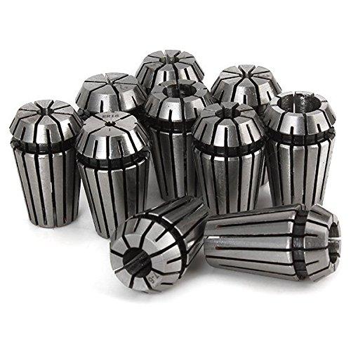 WEONE Ersatz ER16 Federstahl Sammelt Set Hohe Genauigkeit für Boring Fräsen gehärteter Präzisionsbohren Stich-Werkzeug (Packung mit 10)
