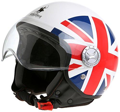 Rodeo-Drive-Casco-DJet-Sfoderabile-Bandiera-del-Regno-Unito-53-54-XS