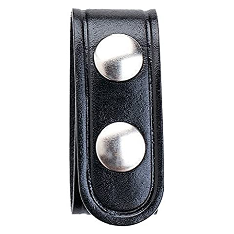 Aker Leather 530 1 Double Snap Keeper, Black, Basketweave by Aker Leather