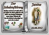 Tortenaufleger Fototorte Tortenbild Schulanfang Einschulung 1. Schultag DIN A5 SE19