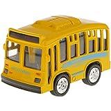 Juguetes Vehículos Tire Hacia Atrás Mini Autobús Monocapa Aleación Niños - Amarillo