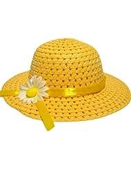 Outstanding® Sombrero encantador de Sun de las muchachas de los Sombrero de la playa del casquillo de la paja del