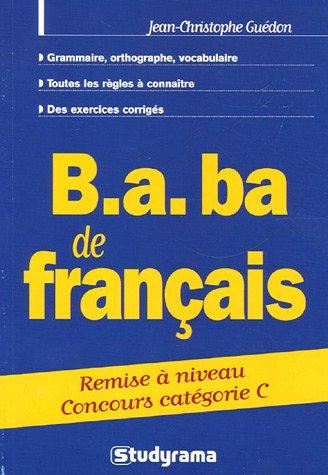 B.A. BA de français