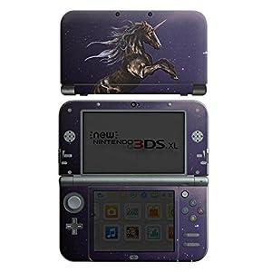 DeinDesign Nintendo New 3DS XL Case Skin Sticker aus Vinyl-Folie Aufkleber Einhorn Unicorn Schwarz Pferd