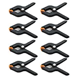 Invero® 8x Pack of 3 Inch Nylon Spring Clamp Clamps Set ideal for Market Stalls Cloths Photography Work Building Clip