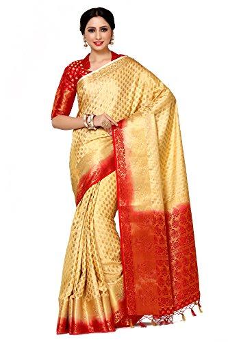 Mimosa By Kupinda Women's Art Silk Saree Kanjivaram Style (Latest Designer Sarees /Party wear sarees /New collection sarees Color