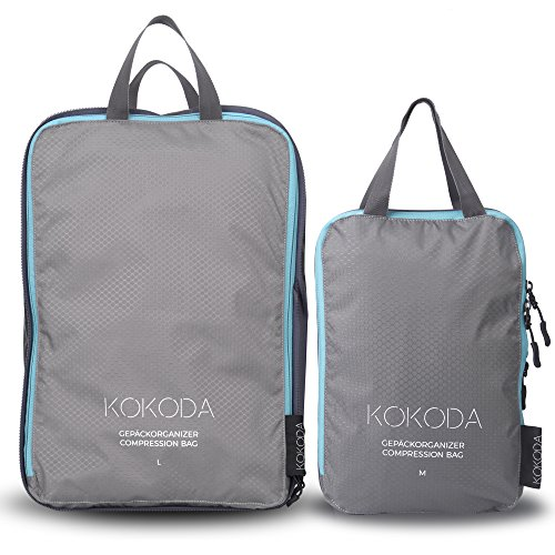 KOKODA Gepäckorganizer Set, Kleidertaschen Set, Kofferorganizer Set, Packtaschen Set, Packwürfel Set, Compression Bags