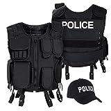 Costume d'intervention avec Gilet tactique et Casquette, Police