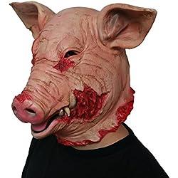BESTOYARD Halloween Masque Horreur Saw Masque De Cochon De Sang Nouveauté Costume Party Latex Animal Tête Masque Effrayant