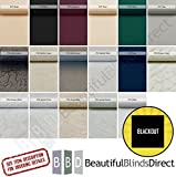 PVC Blackout Vertical Blind Replacement Slats (3.5 Wide - Various Pack Quantities) Including Hangers, Weights and Chain,Free Delivery,Any size up to 2500mm....!! (30) by Beautiful Blinds